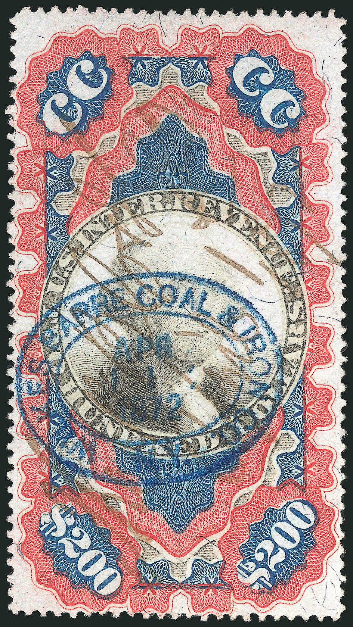 Cost of US Stamps Scott Catalog # R132: US$200.00 1871 Revenue Documentary . Robert Siegel Auction Galleries, Jul 2014, Sale 1077, Lot 503