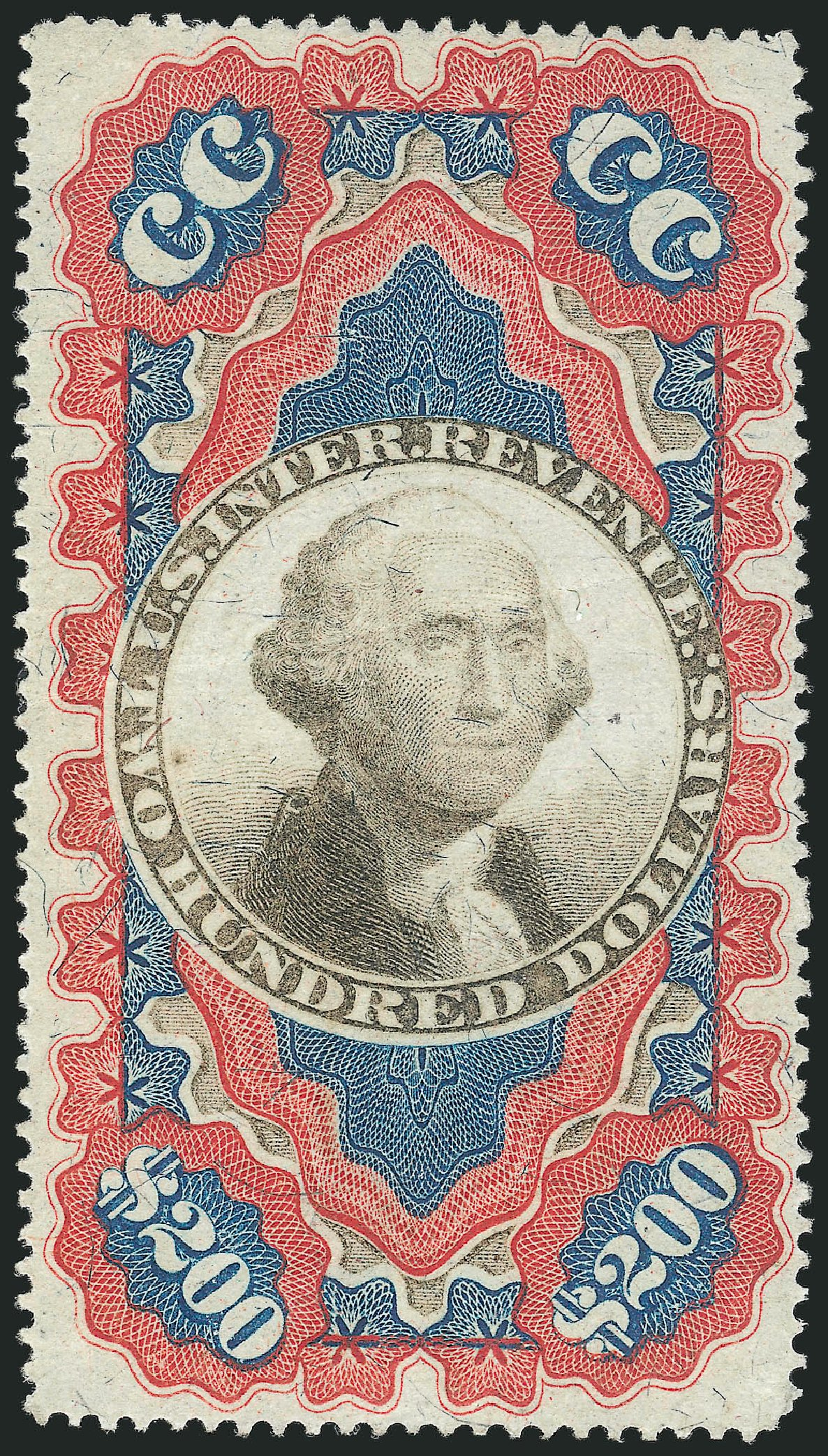 Costs of US Stamps Scott Catalog # R132: US$200.00 1871 Revenue Documentary . Robert Siegel Auction Galleries, Feb 2015, Sale 1092, Lot 1513