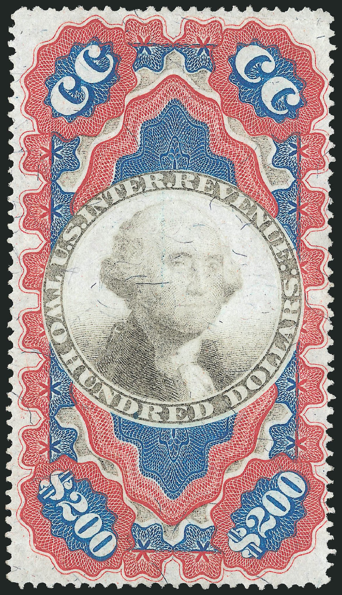 Values of US Stamp Scott Catalog # R132: 1871 US$200.00 Revenue Documentary . Robert Siegel Auction Galleries, Mar 2014, Sale 1067, Lot 556