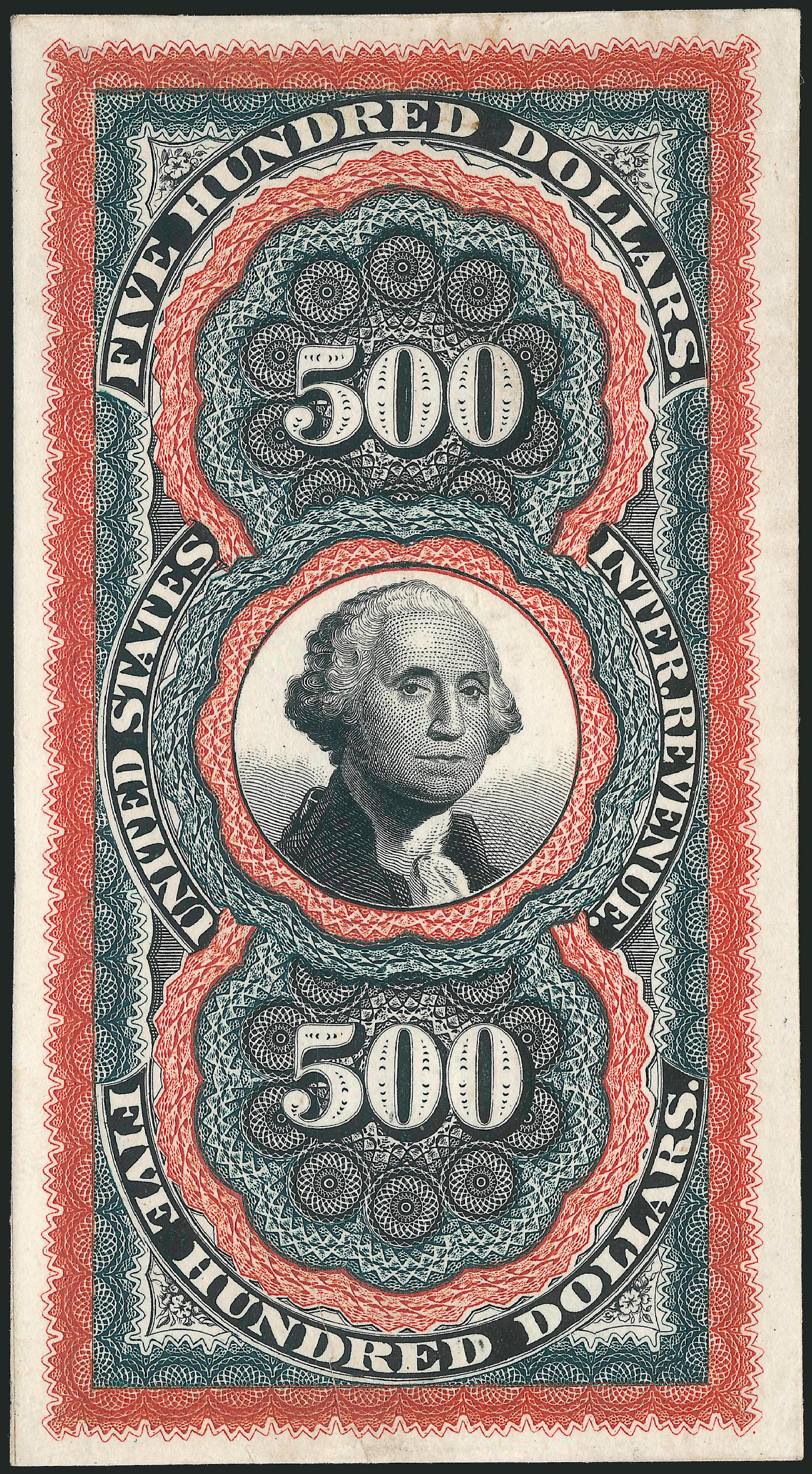 Cost of US Stamp Scott # R133: US$500.00 1871 Revenue Documentary . Robert Siegel Auction Galleries, Apr 2015, Sale 1096, Lot 978