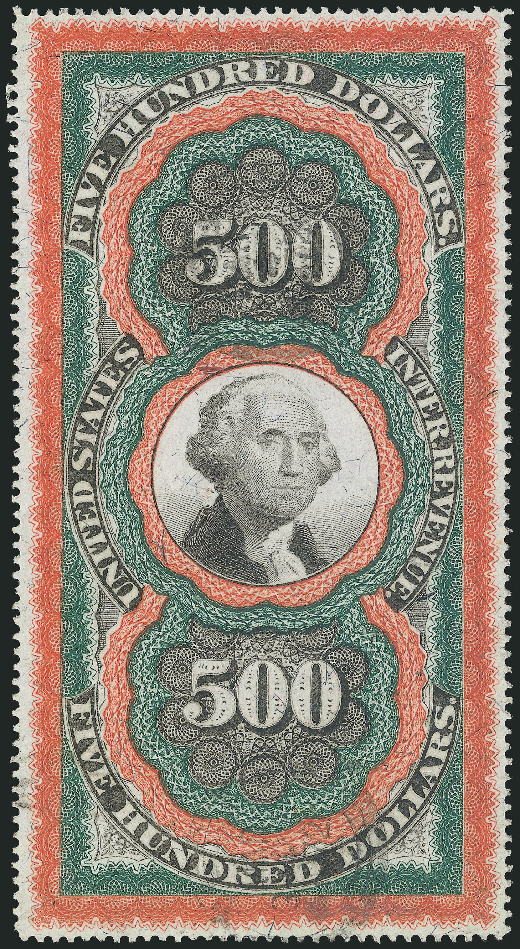Value of US Stamps Scott Catalog #R133: US$500.00 1871 Revenue Documentary . Robert Siegel Auction Galleries, Jun 2015, Sale 1100, Lot 182