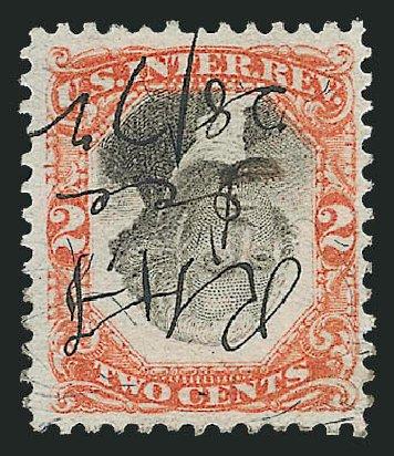 US Stamp Price Scott Catalogue # R135 - 1872 2c Revenue Documentary . Robert Siegel Auction Galleries, Oct 2011, Sale 1014, Lot 2467