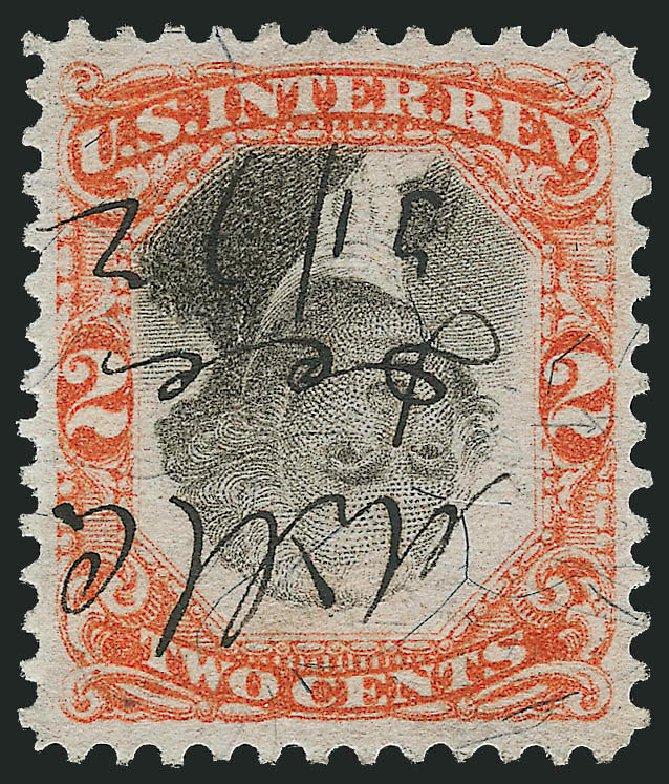 Costs of US Stamp Scott Catalogue # R135: 1872 2c Revenue Documentary . Robert Siegel Auction Galleries, Mar 2012, Sale 1019, Lot 1020