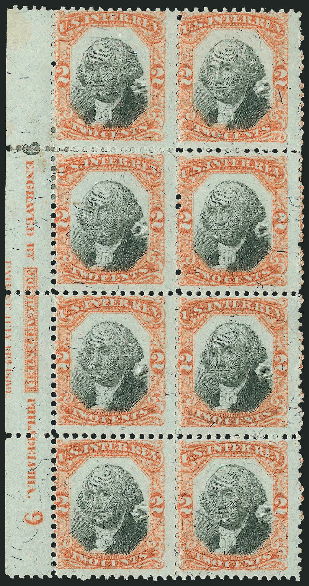 Cost of US Stamps Scott Catalog R135 - 1872 2c Revenue Documentary . Robert Siegel Auction Galleries, Dec 2014, Sale 1089, Lot 510