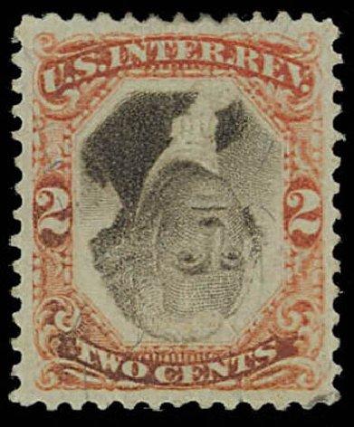 US Stamps Prices Scott Catalogue # R135 - 1872 2c Revenue Documentary . Daniel Kelleher Auctions, Oct 2011, Sale 626, Lot 664