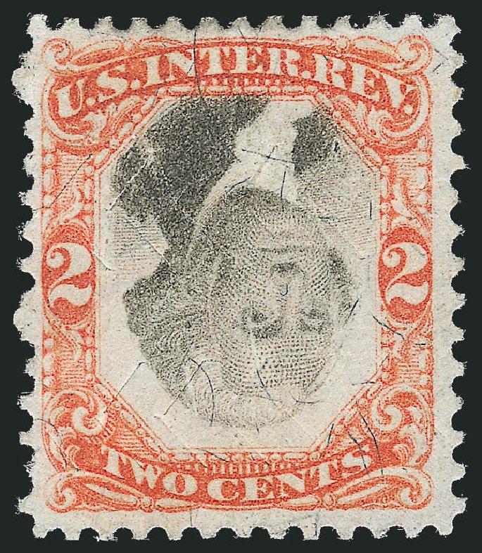 US Stamp Value Scott Catalog # R135: 2c 1872 Revenue Documentary . Robert Siegel Auction Galleries, Oct 2012, Sale 1031, Lot 1044