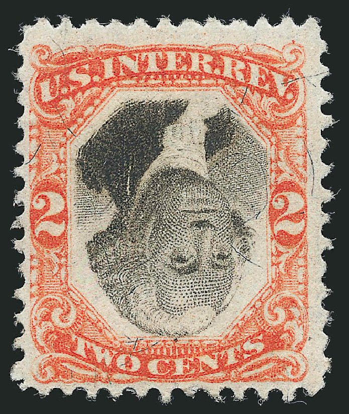 Value of US Stamp Scott Cat. R135: 2c 1872 Revenue Documentary . Robert Siegel Auction Galleries, Jul 2014, Sale 1077, Lot 504
