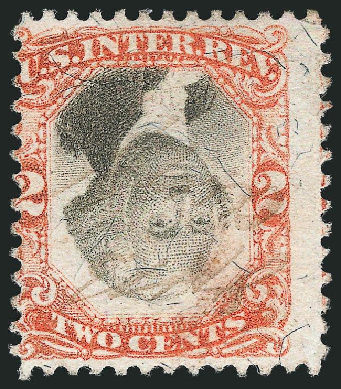 US Stamps Value Scott Cat. #R135: 2c 1872 Revenue Documentary . Robert Siegel Auction Galleries, Dec 2012, Sale 1037, Lot 2402