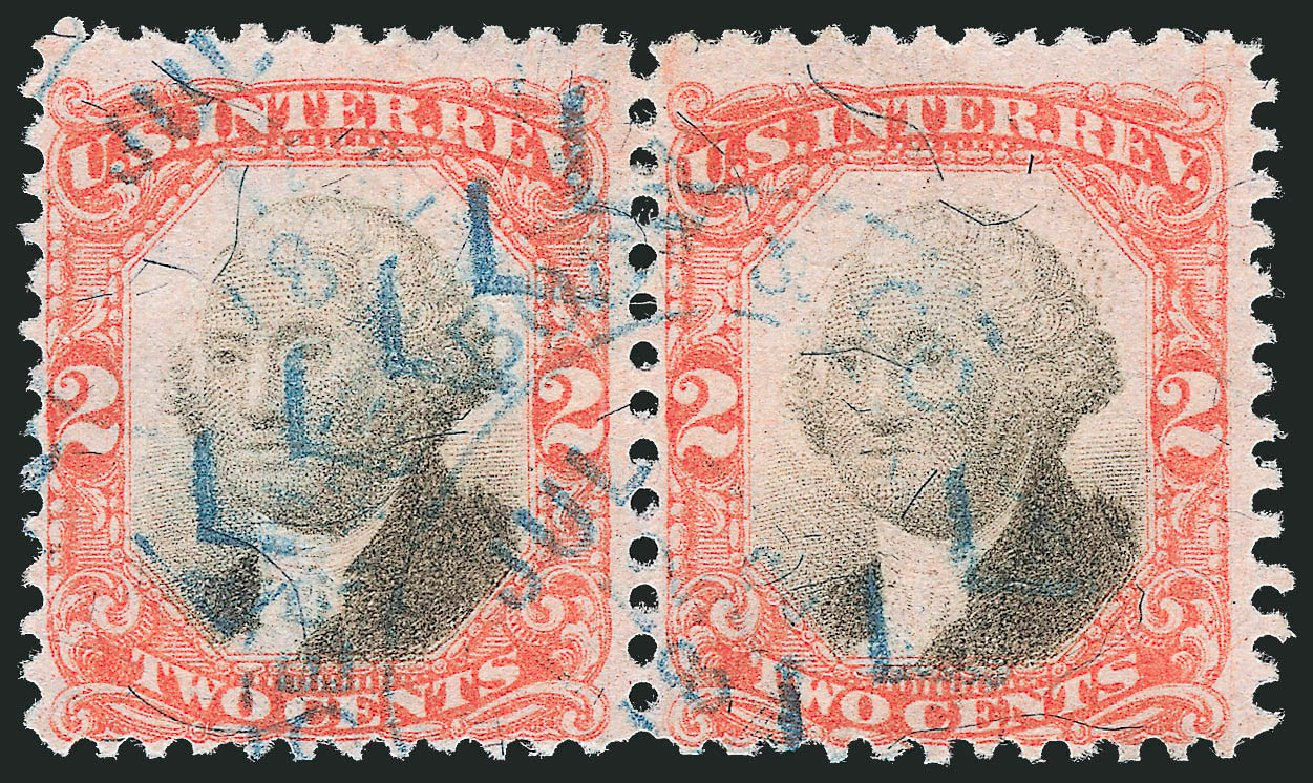 Costs of US Stamps Scott R135: 2c 1872 Revenue Documentary . Robert Siegel Auction Galleries, Dec 2014, Sale 1089, Lot 512