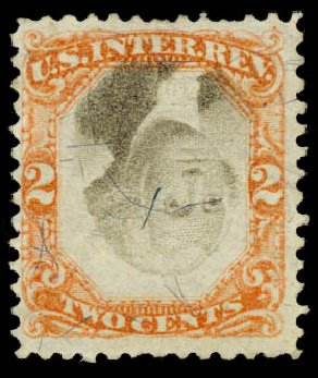 Costs of US Stamp Scott Cat. R135 - 2c 1872 Revenue Documentary . Daniel Kelleher Auctions, Aug 2015, Sale 672, Lot 3083
