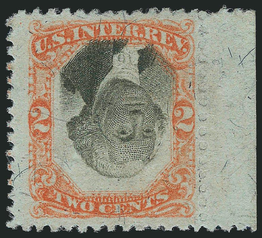 US Stamp Prices Scott #R135 - 2c 1872 Revenue Documentary . Robert Siegel Auction Galleries, Oct 2011, Sale 1014, Lot 2463