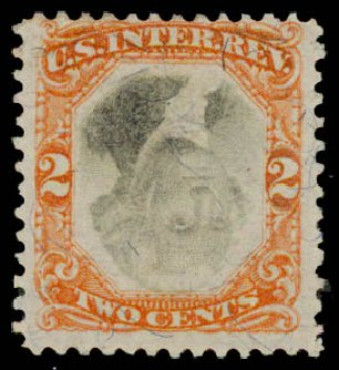 US Stamp Prices Scott # R135: 2c 1872 Revenue Documentary . Daniel Kelleher Auctions, May 2015, Sale 665, Lot 186