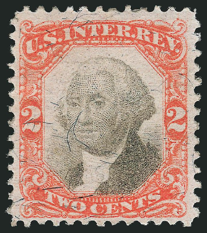 Values of US Stamp Scott R135 - 1872 2c Revenue Documentary . Robert Siegel Auction Galleries, Jun 2015, Sale 1100, Lot 186