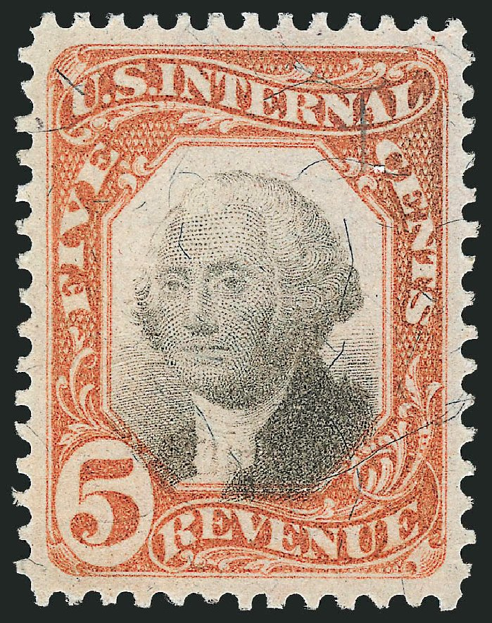 Price of US Stamp Scott Cat. # R137 - 5c 1872 Revenue Documentary . Robert Siegel Auction Galleries, Mar 2014, Sale 1066, Lot 95