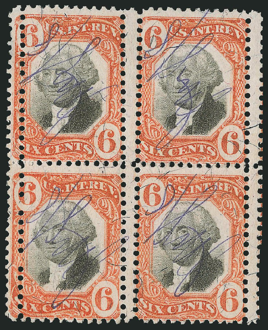 US Stamps Price Scott R138: 6c 1872 Revenue Documentary . Robert Siegel Auction Galleries, Dec 2014, Sale 1089, Lot 513