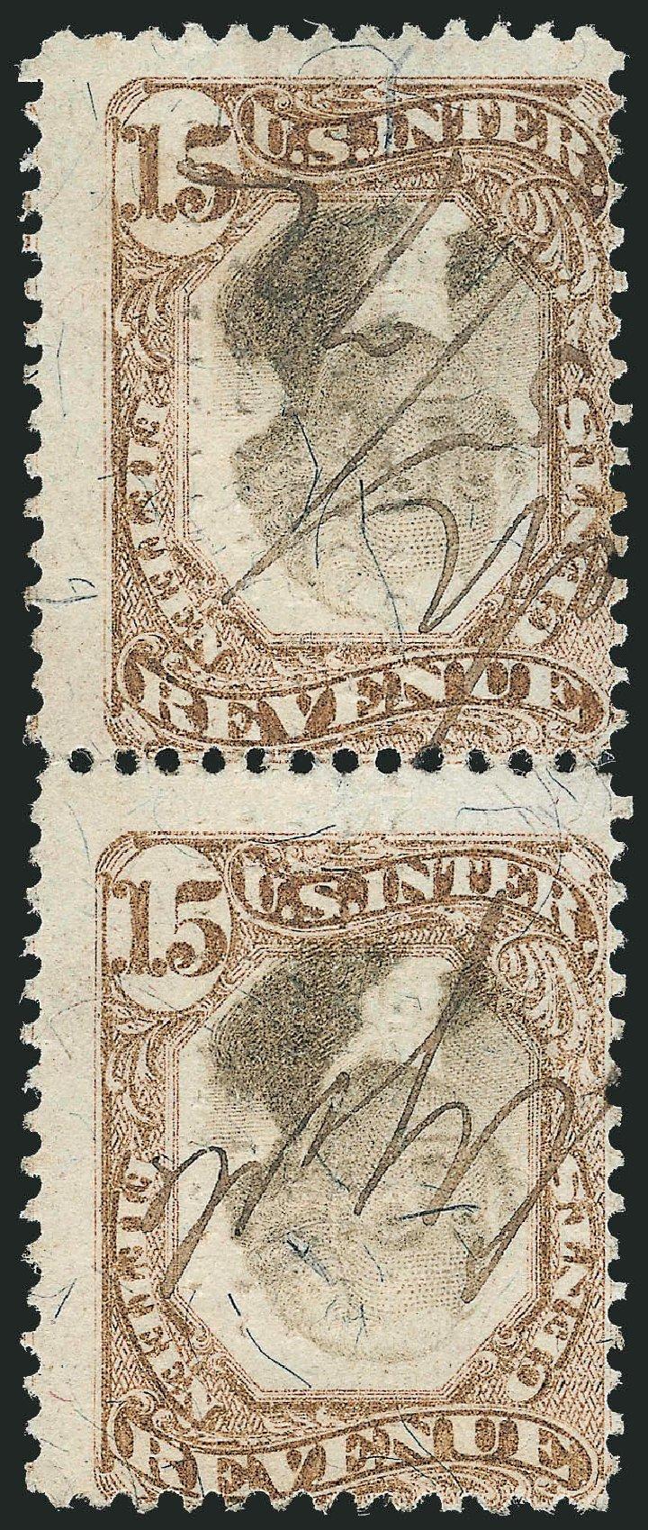US Stamps Price Scott Catalog #R139 - 1872 15c Revenue Documentary . Robert Siegel Auction Galleries, Dec 2014, Sale 1089, Lot 528