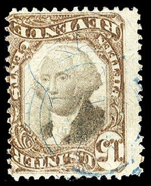 US Stamp Values Scott Catalogue #R139: 1872 15c Revenue Documentary . Cherrystone Auctions, Apr 2010, Sale 201004, Lot 342