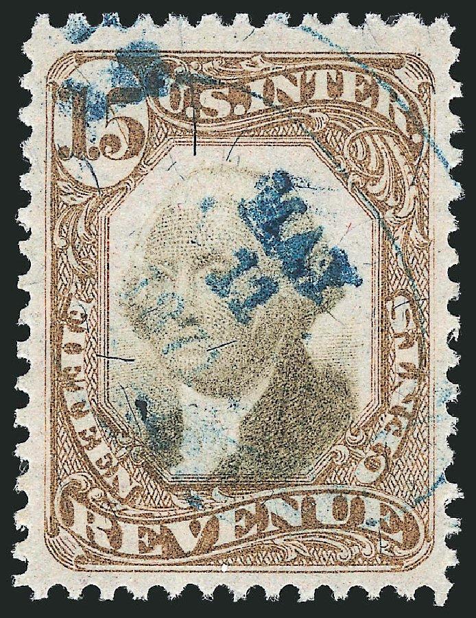 US Stamps Prices Scott Catalogue # R139 - 15c 1872 Revenue Documentary . Robert Siegel Auction Galleries, Mar 2014, Sale 1066, Lot 96