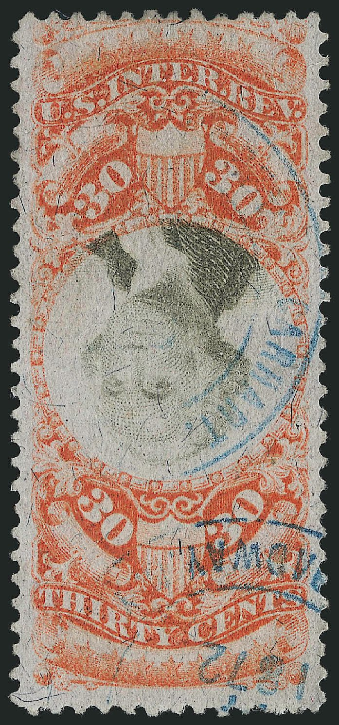 US Stamps Prices Scott Catalogue #R140 - 30c 1872 Revenue Documentary . Robert Siegel Auction Galleries, Mar 2014, Sale 1067, Lot 567