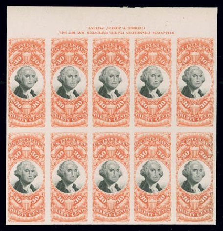 Value of US Stamp Scott Catalog R140: 1872 30c Revenue Documentary . Matthew Bennett International, Jun 2008, Sale 328, Lot 1348