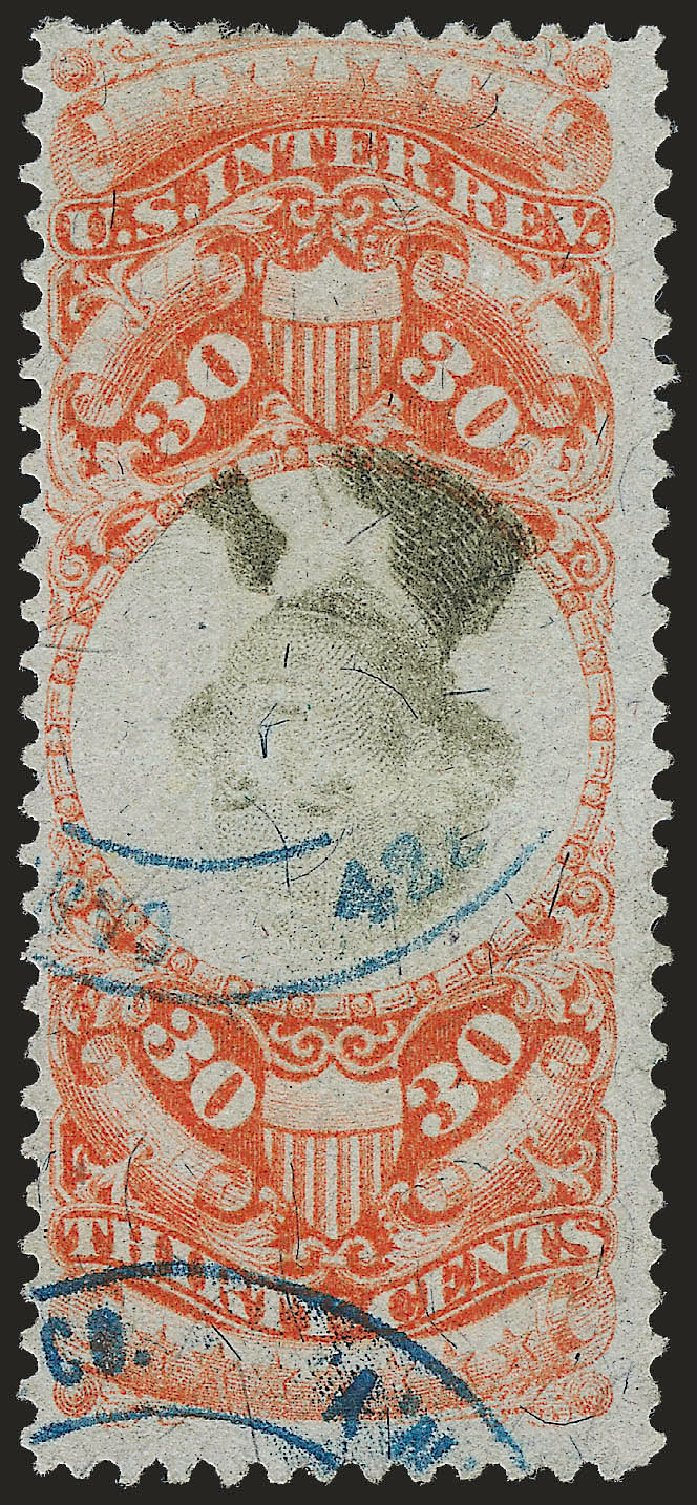 Prices of US Stamp Scott Catalogue R140: 1872 30c Revenue Documentary . Robert Siegel Auction Galleries, Apr 2010, Sale 984, Lot 1208