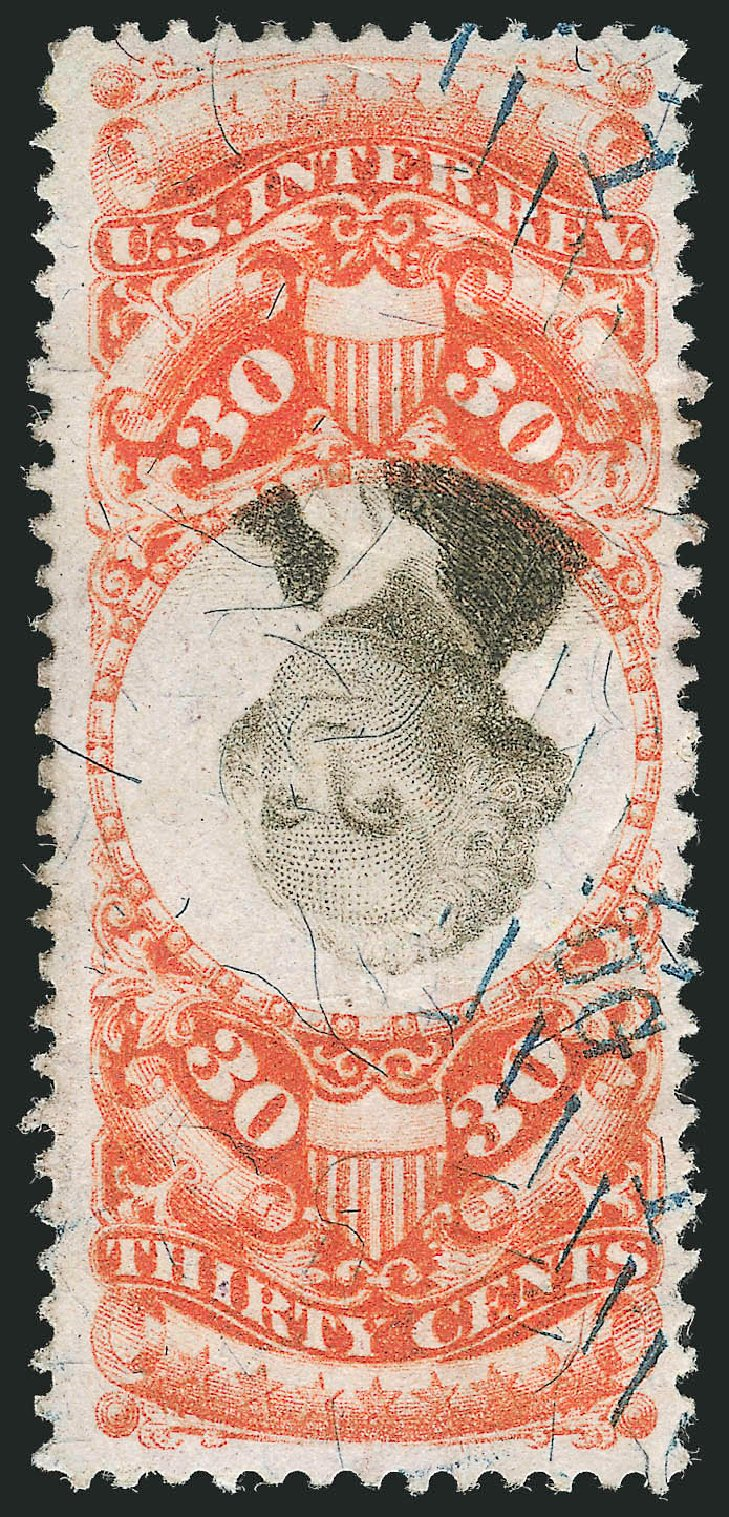 US Stamps Value Scott Catalog # R140: 30c 1872 Revenue Documentary . Robert Siegel Auction Galleries, Dec 2014, Sale 1089, Lot 529
