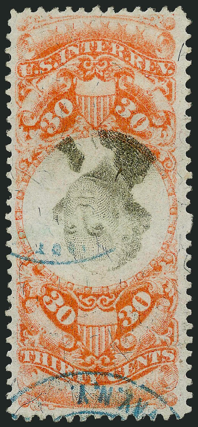 Values of US Stamp Scott Cat. #R140: 30c 1872 Revenue Documentary . Robert Siegel Auction Galleries, Mar 2014, Sale 1066, Lot 100