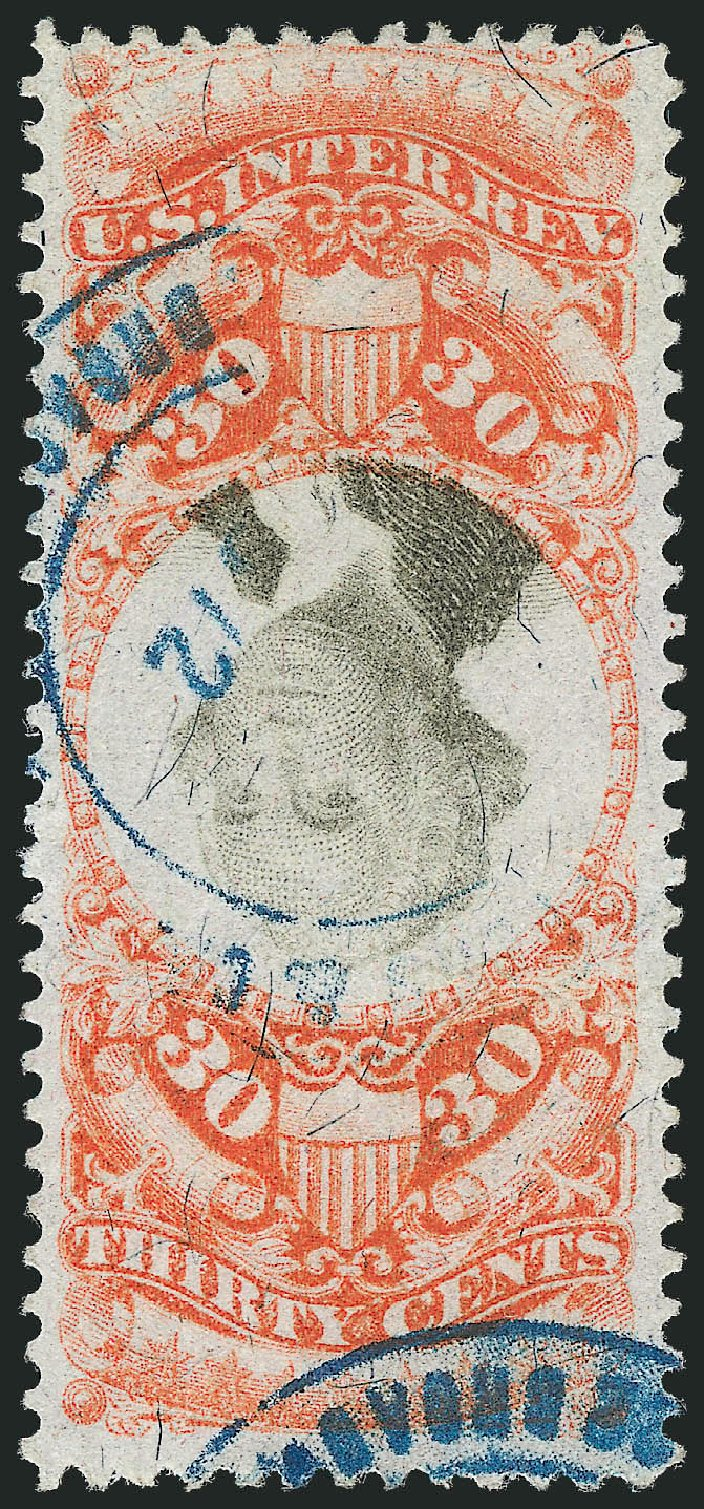 Cost of US Stamps Scott Catalogue #R140 - 1872 30c Revenue Documentary . Robert Siegel Auction Galleries, Nov 2013, Sale 1061, Lot 4314