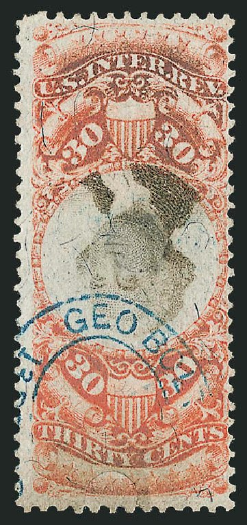 Price of US Stamp Scott Catalog #R140: 1872 30c Revenue Documentary . Robert Siegel Auction Galleries, Mar 2011, Sale 1007, Lot 3132