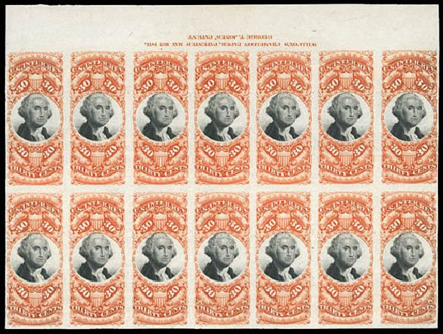 Price of US Stamps Scott Catalogue #R140 - 1872 30c Revenue Documentary . Matthew Bennett International, Mar 2011, Sale 337, Lot 3293