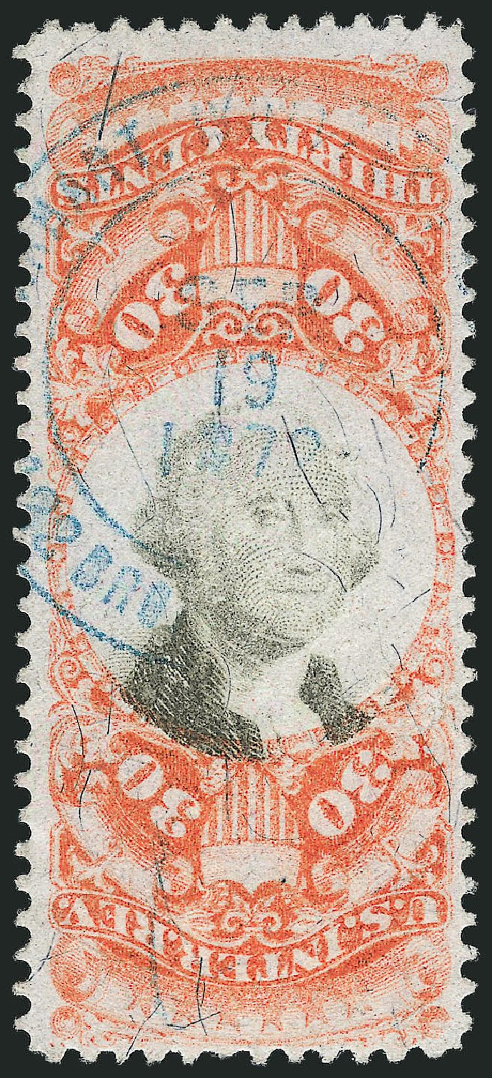 Prices of US Stamp Scott Cat. # R140: 1872 30c Revenue Documentary . Robert Siegel Auction Galleries, Dec 2012, Sale 1037, Lot 2403