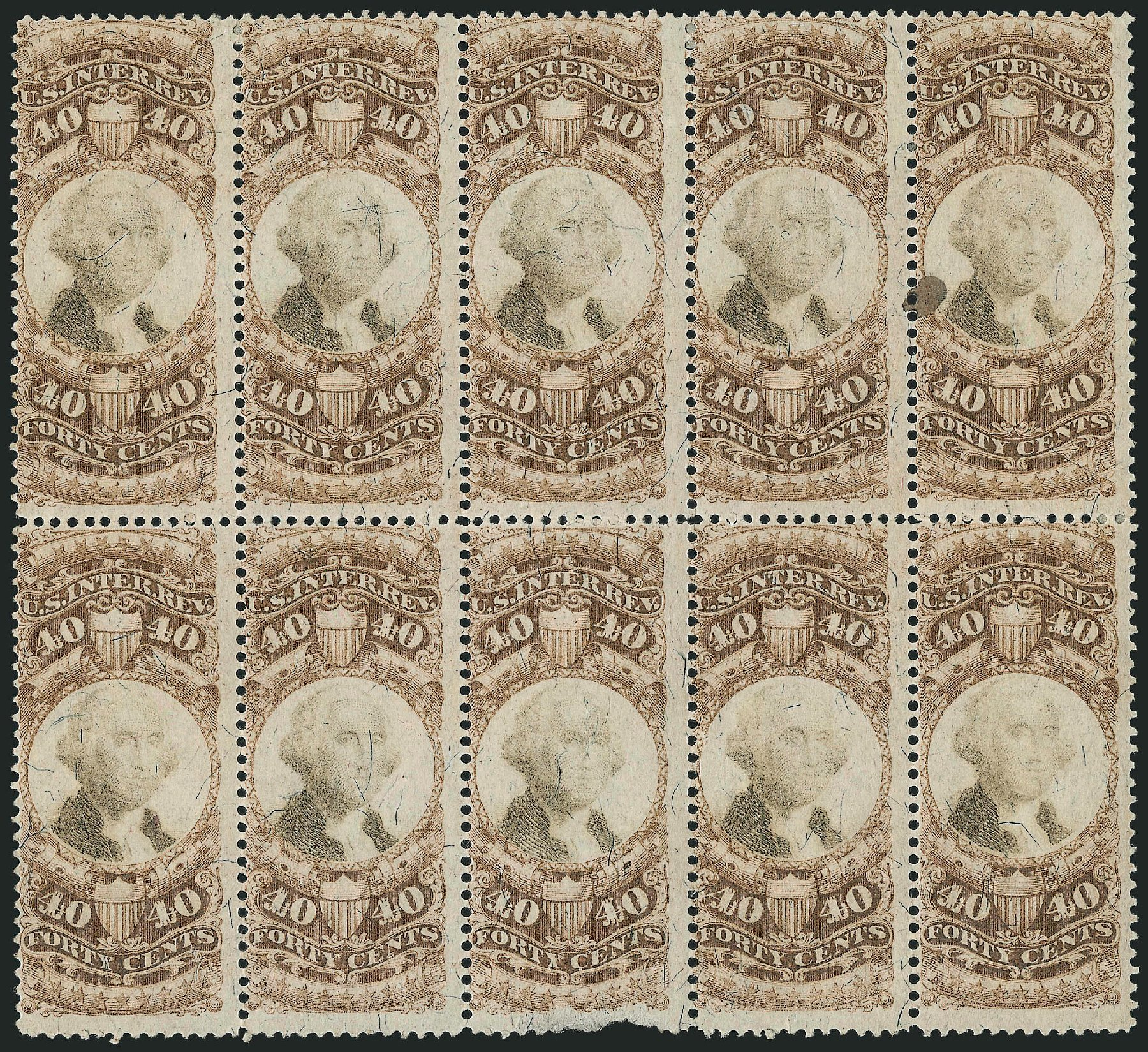 Prices of US Stamp Scott Cat. #R141: 1872 40c Revenue Documentary . Robert Siegel Auction Galleries, Dec 2014, Sale 1089, Lot 514
