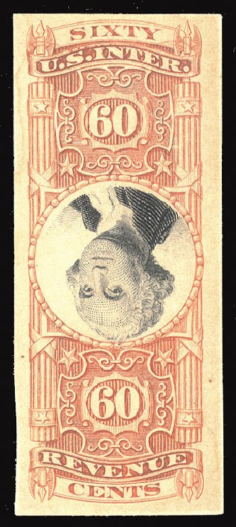 US Stamps Prices Scott R142: 60c 1872 Revenue Documentary . Cherrystone Auctions, Jun 2012, Sale 201206, Lot 192