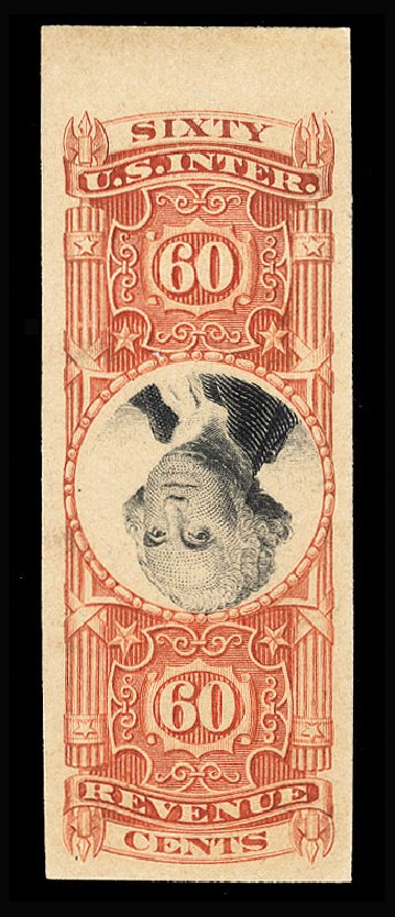 Values of US Stamps Scott Cat. # R142: 60c 1872 Revenue Documentary . Cherrystone Auctions, Jan 2015, Sale 201501, Lot 222