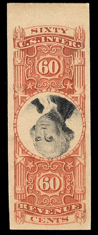 Price of US Stamps Scott #R142 - 1872 60c Revenue Documentary . Cherrystone Auctions, Apr 2010, Sale 201004, Lot 343