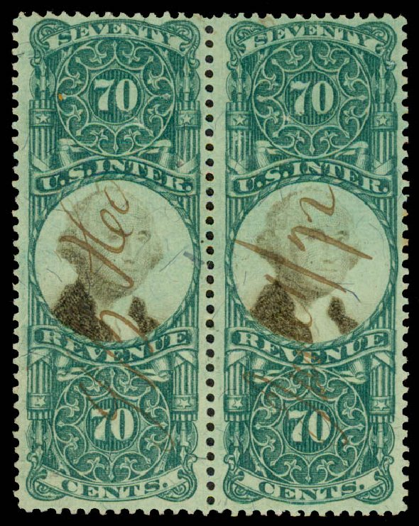 Costs of US Stamp Scott Catalog #R143 - 70c 1872 Revenue Documentary . Daniel Kelleher Auctions, May 2015, Sale 665, Lot 187