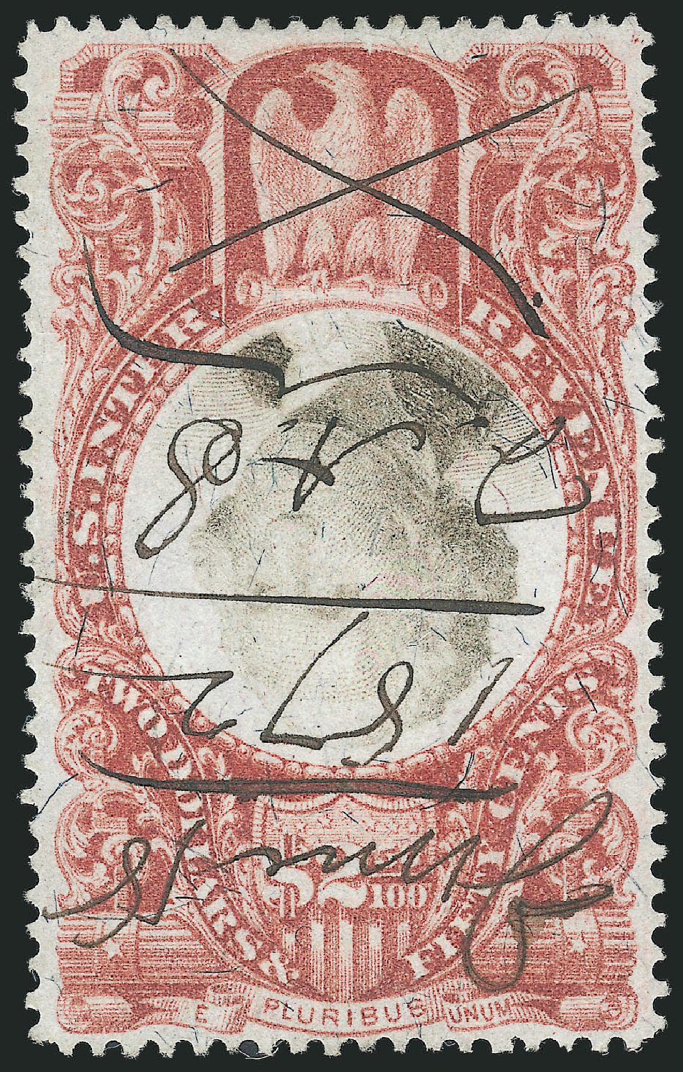 US Stamp Prices Scott Catalog R146: US$2.50 1872 Revenue Documentary . Robert Siegel Auction Galleries, Feb 2015, Sale 1092, Lot 1517