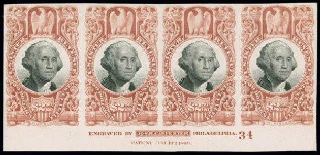 Prices of US Stamps Scott #R146: US$2.50 1872 Revenue Documentary . Matthew Bennett International, Jun 2008, Sale 328, Lot 1351