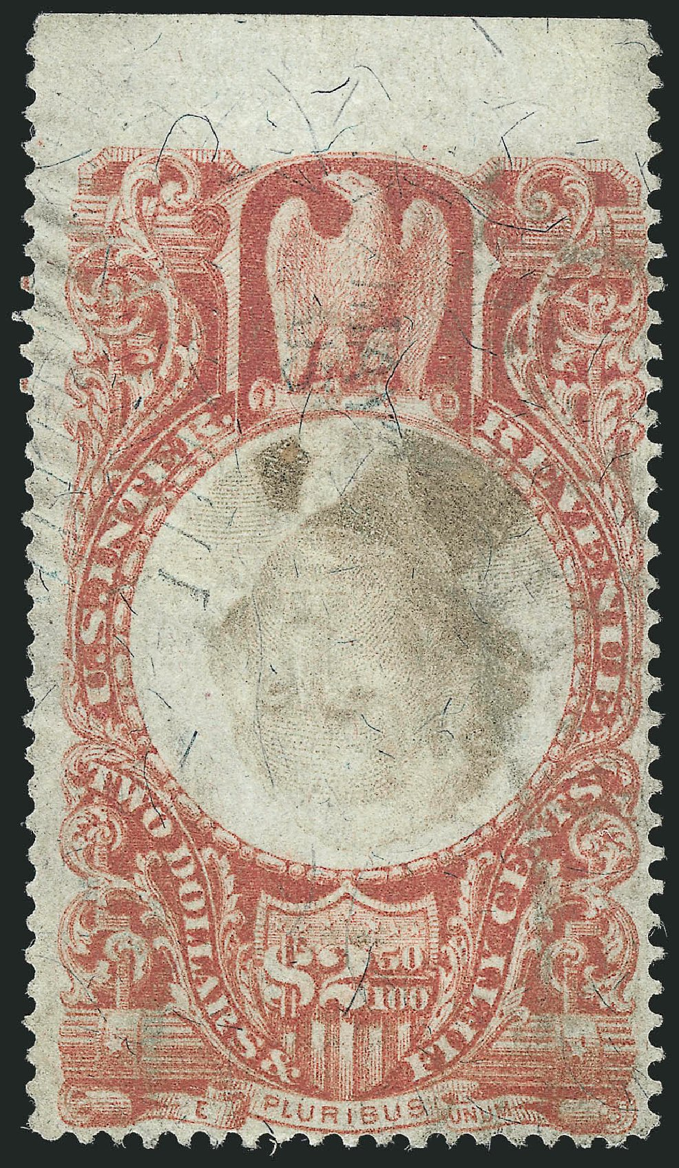 US Stamp Values Scott Cat. # R146 - 1872 US$2.50 Revenue Documentary . Robert Siegel Auction Galleries, Dec 2014, Sale 1089, Lot 531