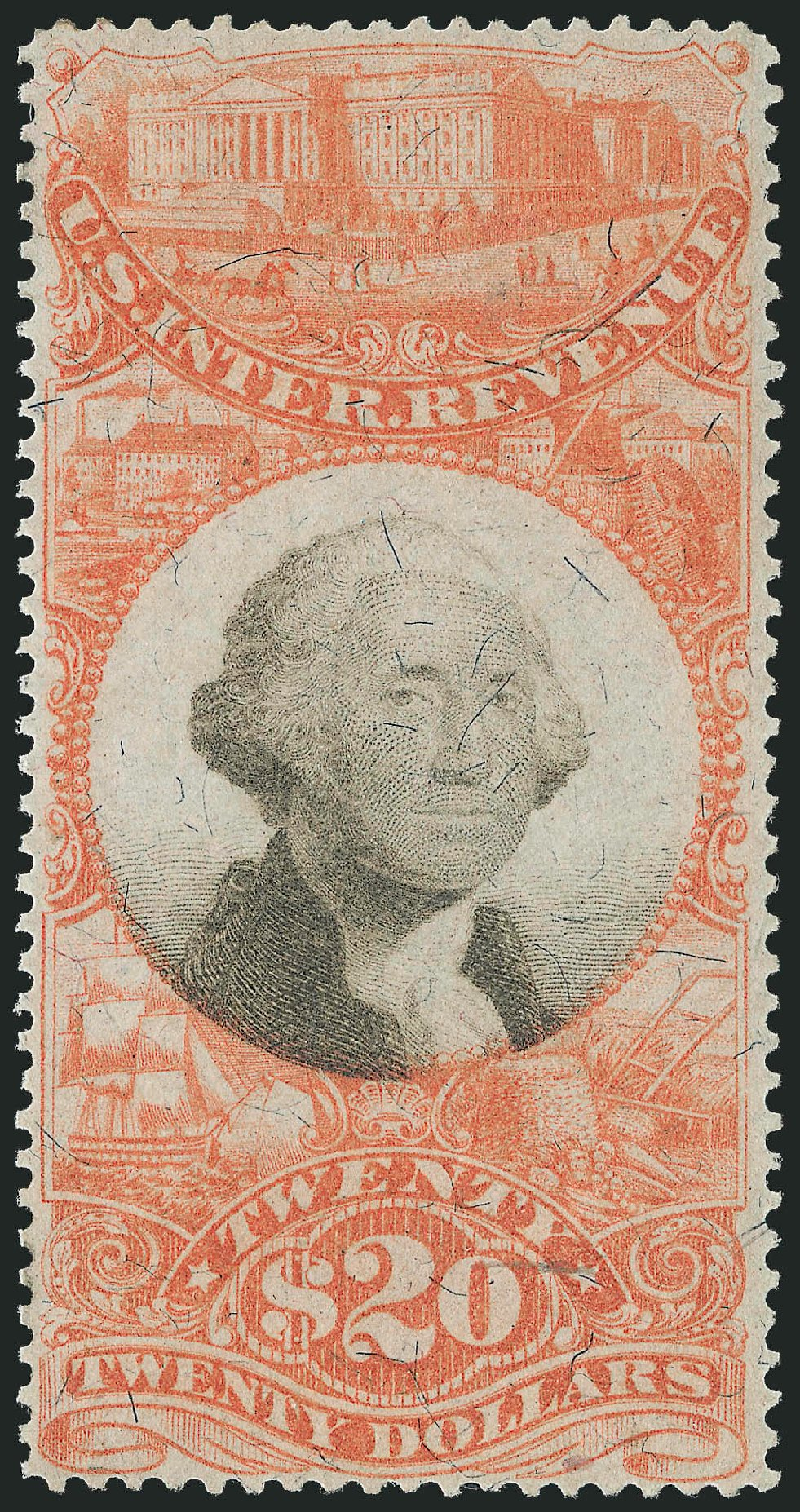 US Stamp Prices Scott R150 - US$20.00 1872 Revenue Documentary . Robert Siegel Auction Galleries, Dec 2014, Sale 1089, Lot 519
