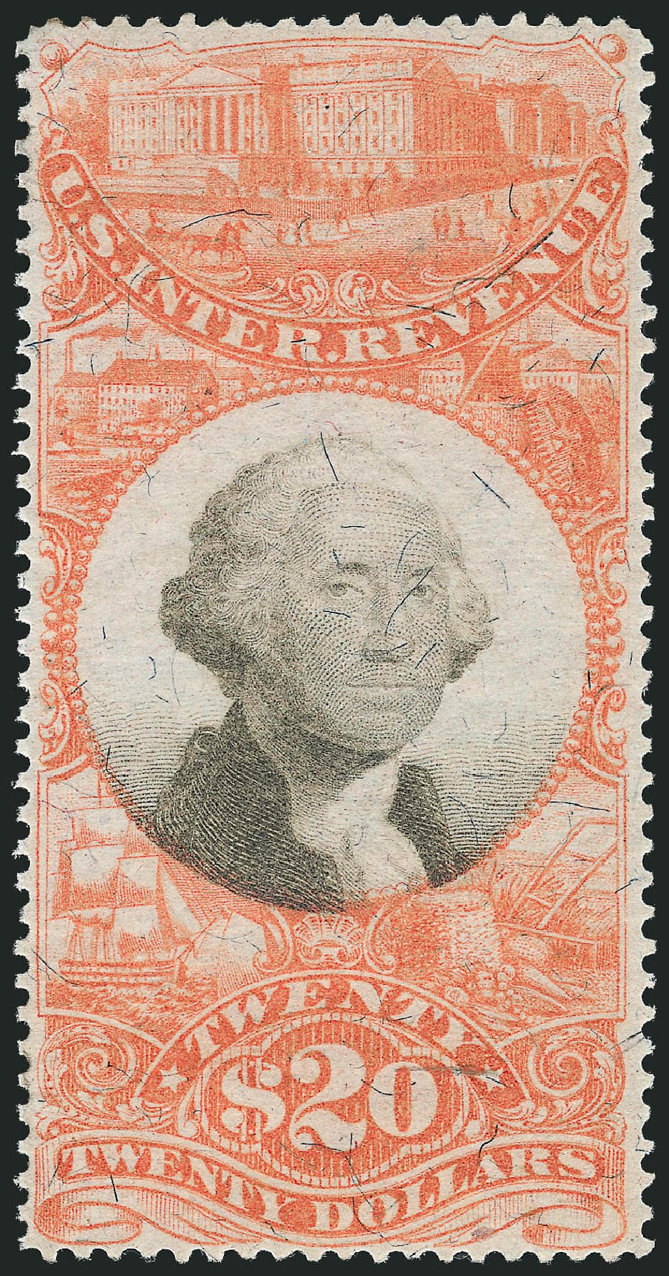 Costs of US Stamp Scott Catalogue # R150 - US$20.00 1872 Revenue Documentary . Robert Siegel Auction Galleries, Nov 2011, Sale 1015, Lot 94