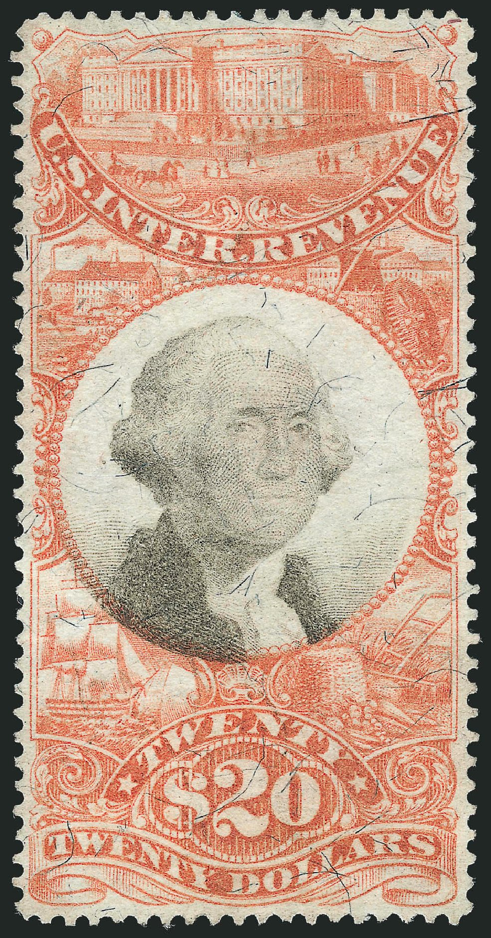 Value of US Stamps Scott # R150: US$20.00 1872 Revenue Documentary . Robert Siegel Auction Galleries, Oct 2012, Sale 1031, Lot 1045