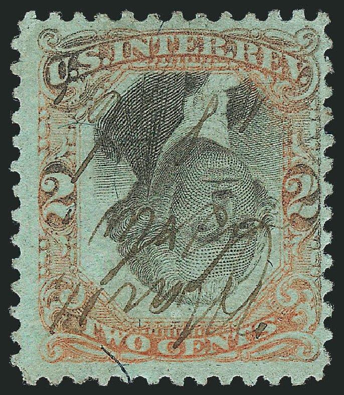US Stamps Prices Scott Catalog R151: 1874 2c Revenue Documentary . Robert Siegel Auction Galleries, Jun 2012, Sale 1026, Lot 1580