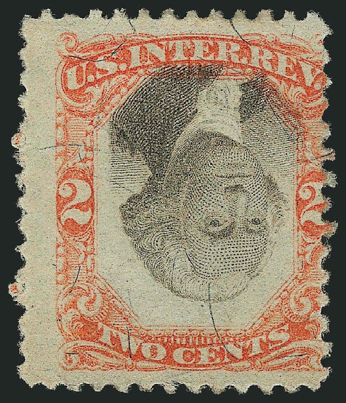 Value of US Stamp Scott R151: 1874 2c Revenue Documentary . Robert Siegel Auction Galleries, Apr 2015, Sale 1096, Lot 991