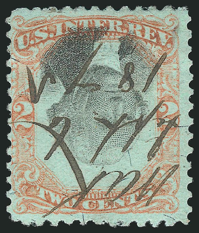 Value of US Stamps Scott # R151 - 1874 2c Revenue Documentary . Robert Siegel Auction Galleries, Dec 2012, Sale 1037, Lot 2404