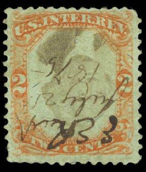 Costs of US Stamps Scott # R151 - 2c 1874 Revenue Documentary . Daniel Kelleher Auctions, Aug 2015, Sale 672, Lot 3085