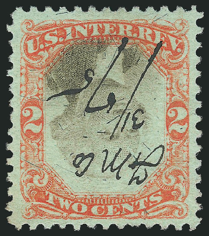 Cost of US Stamp Scott Catalogue R151 - 1874 2c Revenue Documentary . Robert Siegel Auction Galleries, Nov 2013, Sale 1061, Lot 4315