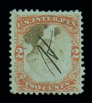 US Stamp Value Scott Catalogue # R151: 2c 1874 Revenue Documentary . Matthew Bennett International, Jun 2007, Sale 319, Lot 1852