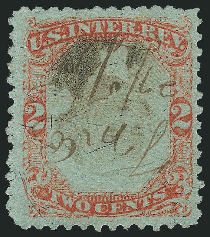 Value of US Stamp Scott Cat. # R151 - 1874 2c Revenue Documentary . Robert Siegel Auction Galleries, Oct 2014, Sale 1082, Lot 542