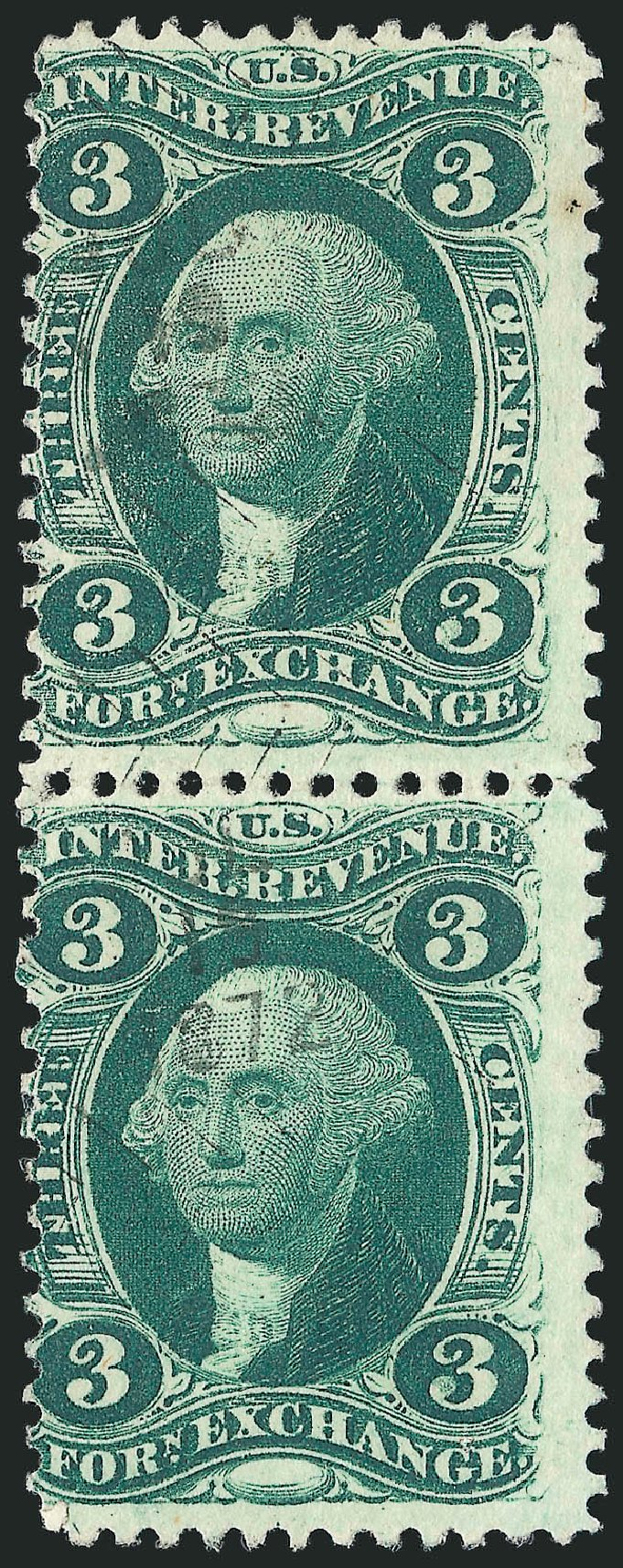 Value of US Stamp Scott R16 - 3c 1862 Revenue Foreign Exchange. Robert Siegel Auction Galleries, Dec 2014, Sale 1089, Lot 455